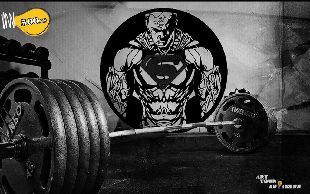fitnes stenopis, superman